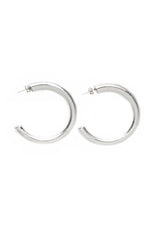 Serena Hoops | Small Silver