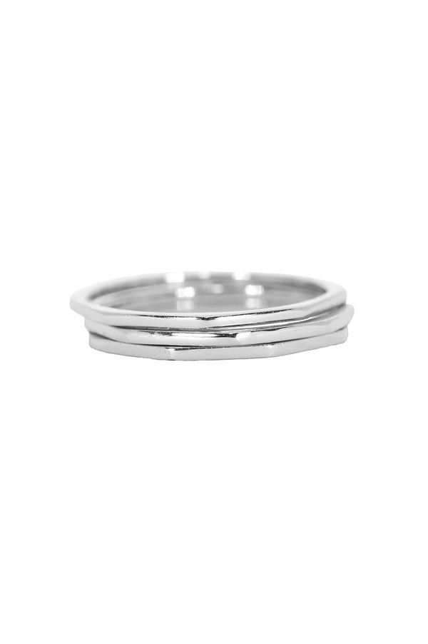 Delicate Stacked Rings | Silver