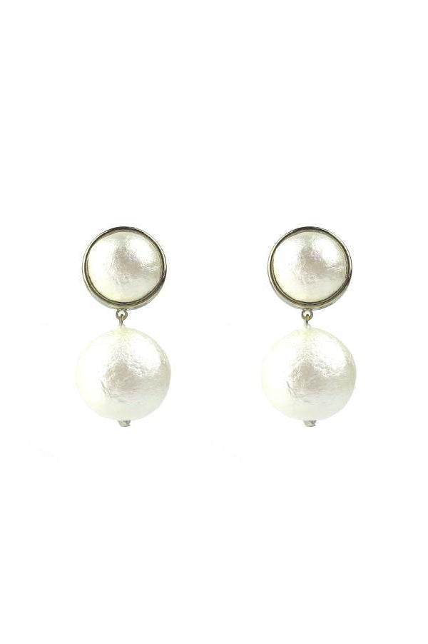 Luna Single Drop Earrings | Silver