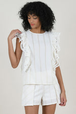 Sleeveless Side Ruffle Top
