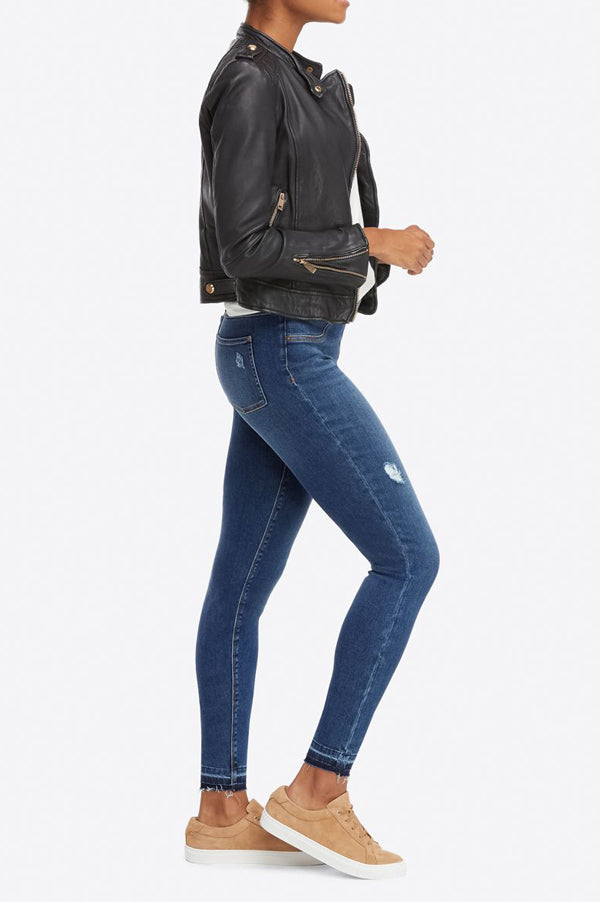 Distressed Skinny Jean | Medium Wash