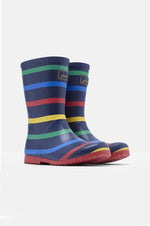 Roll Up Rain Boots | Navy Stripe
