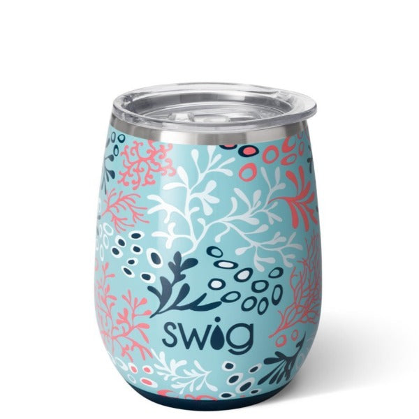 Swig 14OZ Stemless Wine Cup | Coral Me Crazy
