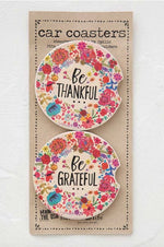 Car Coaster Set of 2 | Thankful Grateful