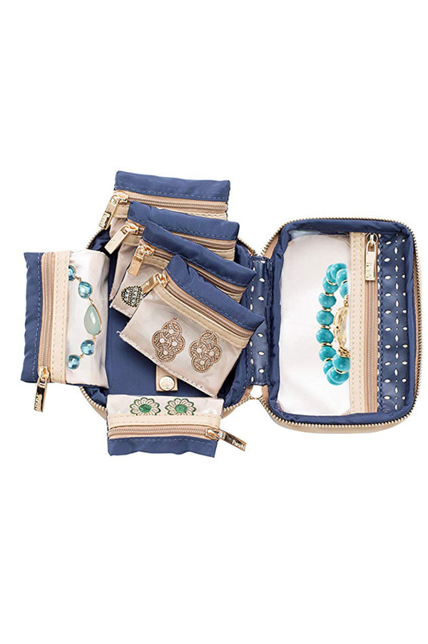 Tiara Mini Jewelry Case | Blue Dunes