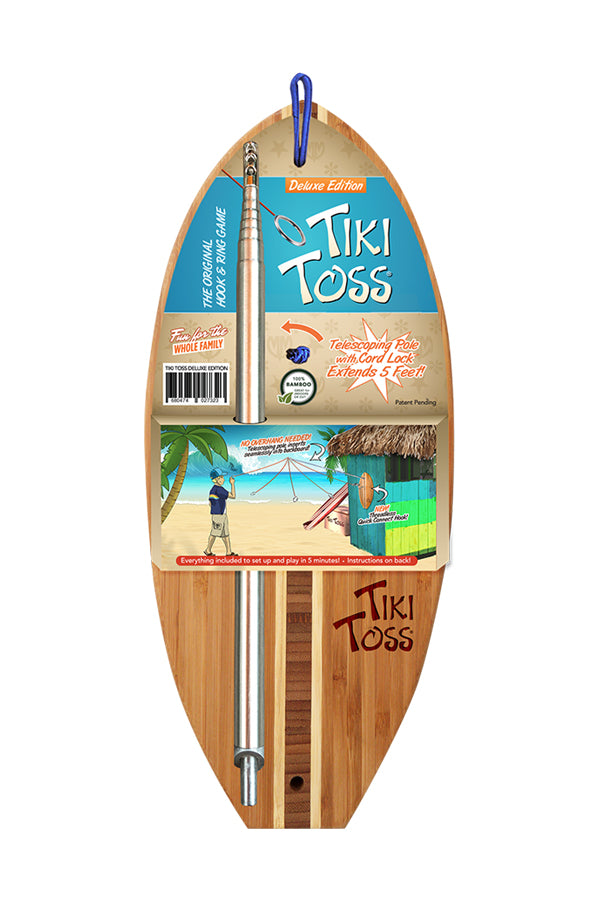 Surfboard Tiki Toss | Deluxe Edition | The Original Hook + Ring Game