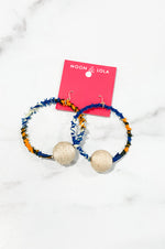 TOGO Tchamba Earrings | Navy