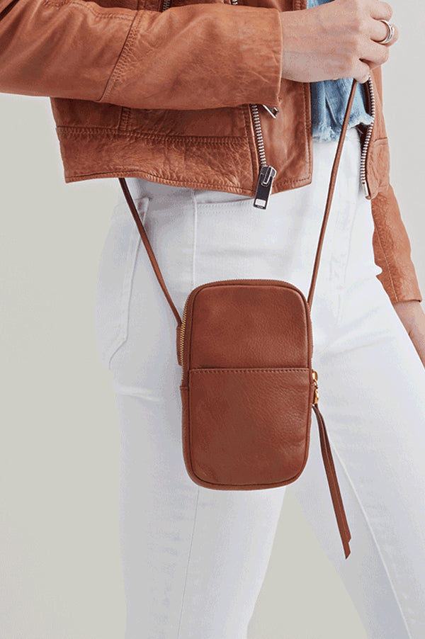 Fate Leather Crossbody | Toffee
