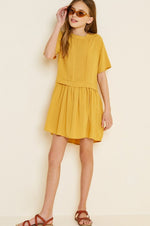 Pleated Tunic Dress | Honey