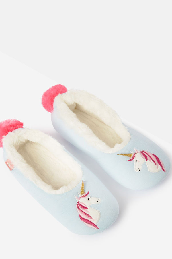 Dreama Character Slippers | Blue Unicorn