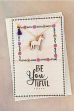 Necklace Greeting Card | Unicorn