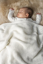 Waffle Baby Blanket | Pearl