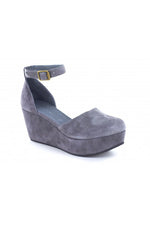 Wanetta Suede Wedges | Grey