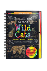 Trace Along Scratch & Sketch | Wild Cats