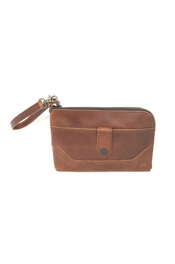 Travelers Leather Wristlet Clutch | Indio Whiskey