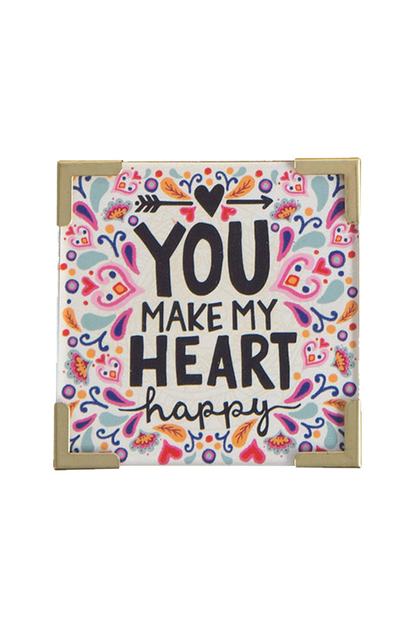 Corner Magnet | Heart Happy