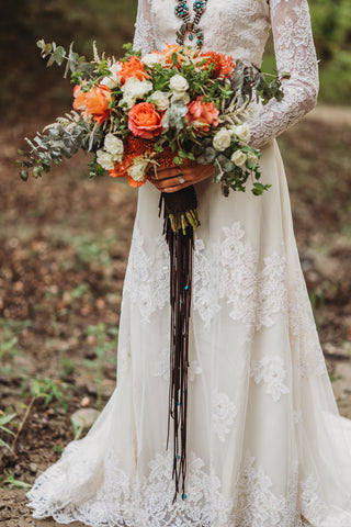 Braided Bridal Bouquet Wrap