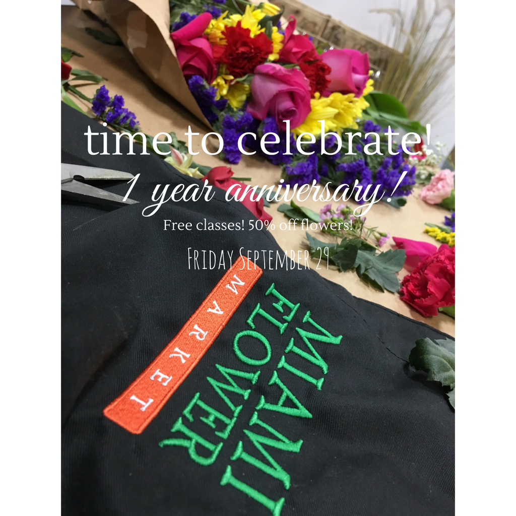 Miami Flower Market turns one!