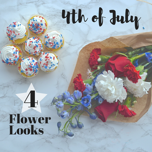 Celebrate 4th of July with Red, White & Blooms!