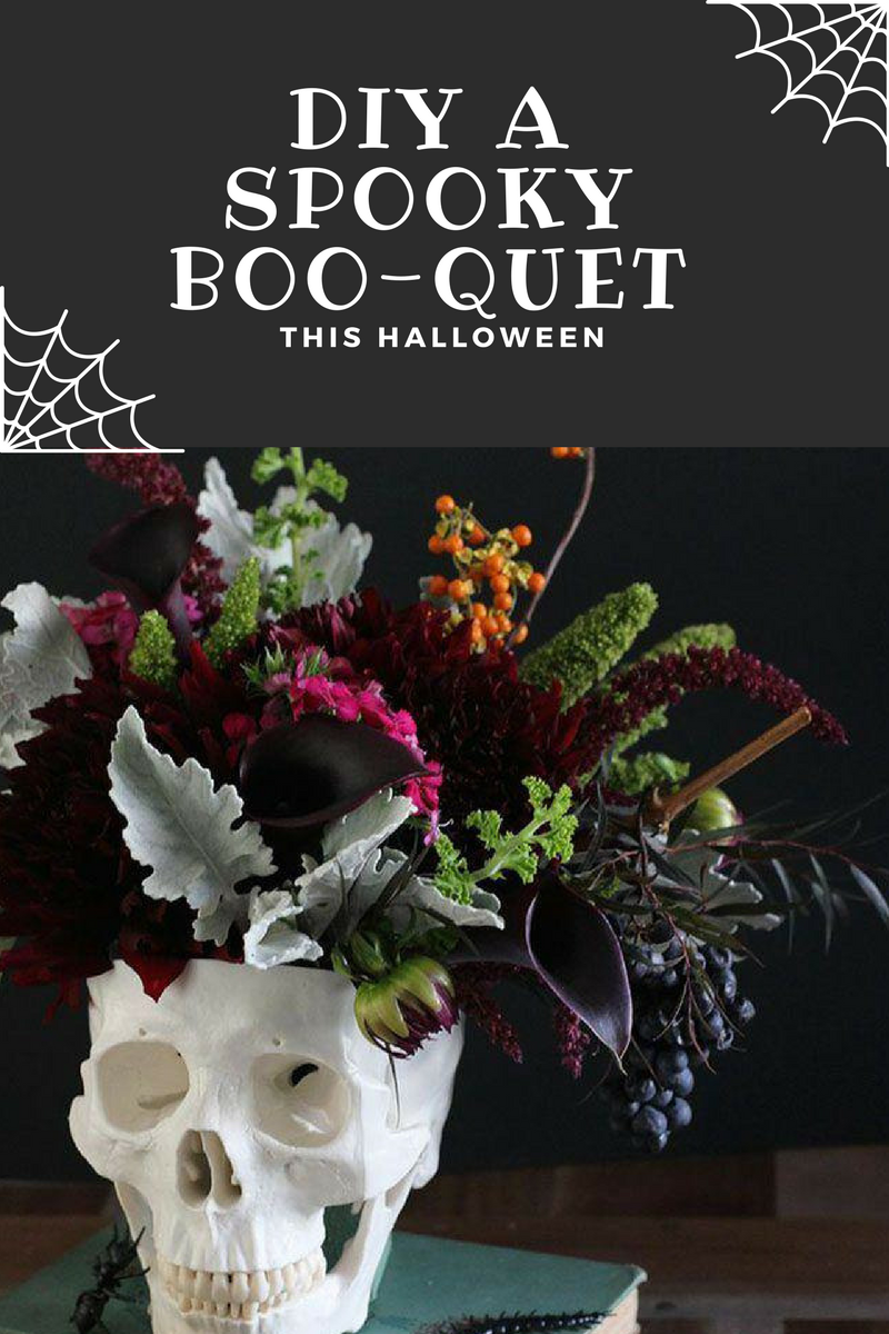 DIY Halloween Flower Arrangements