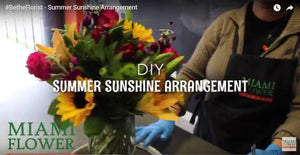#BetheFlorist Video Series: Summer Sunshine Design