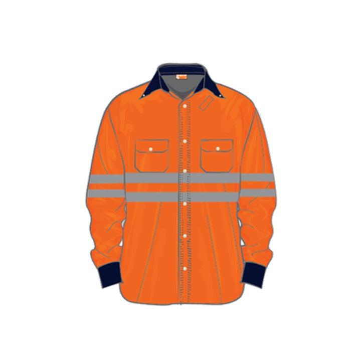 Camisola color naranja alta visibilidad Roughtek CEMEX Supply