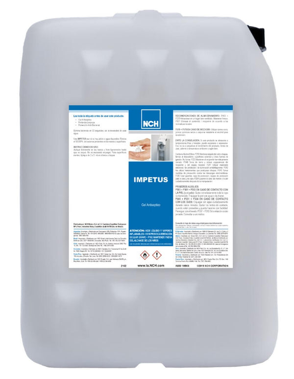Impetus Plus Gel Desinfectante 20 L.