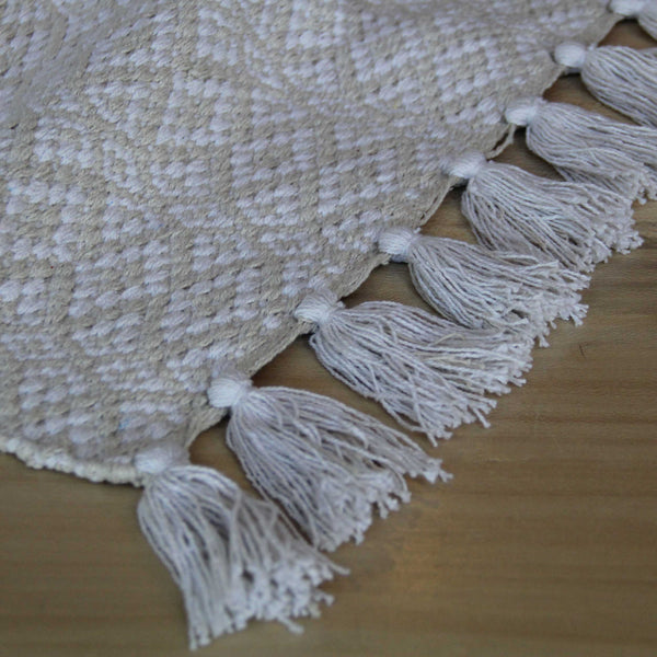 Natural Cotton Bathmat White