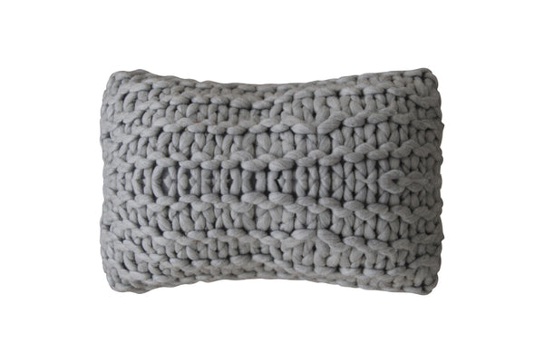 Deco Chunky Pillow Light Grey
