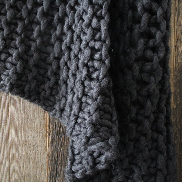 Deco Chunky Throw Charcoal
