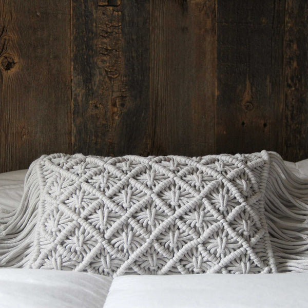 Deco Knit Pillow Barley Blue