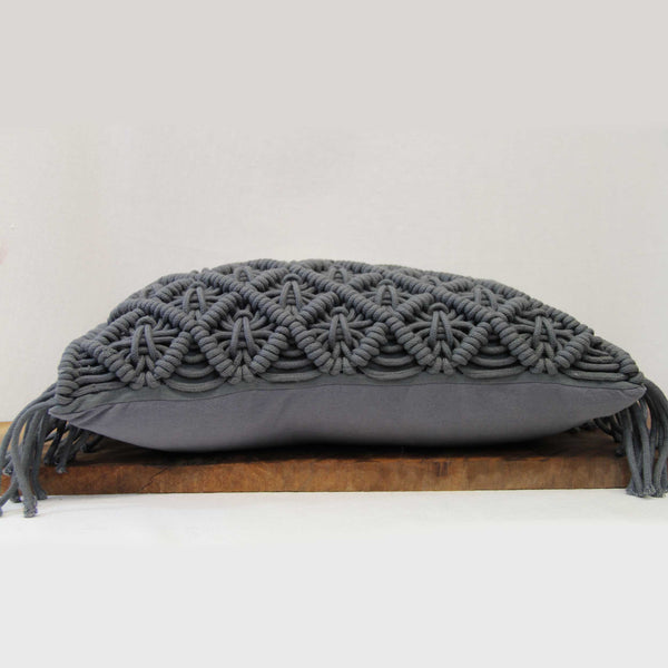 Deco Knit Pillow Charcoal
