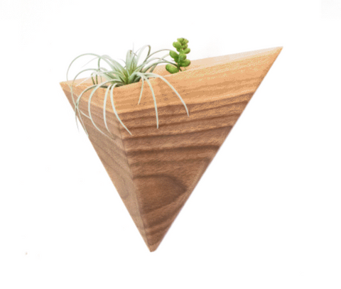Triangle Wall Planter - Walnut