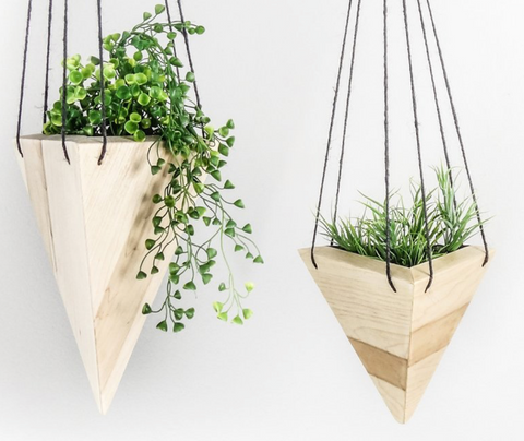 Triangle Hanging Planter - Maple