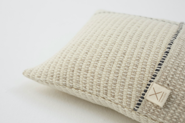 Temps Handwoven Cushion - Light Grey
