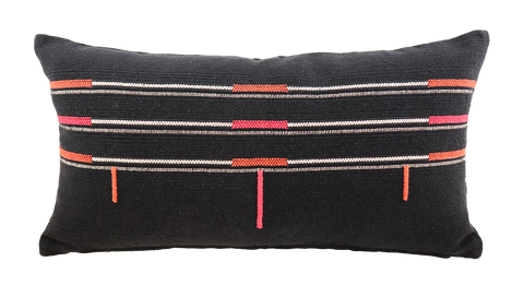 Sema Handwoven Cushion - Naga Black