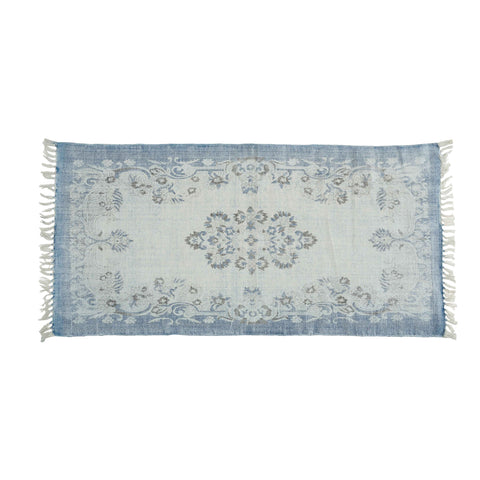 Medallion Bathmat in Blue