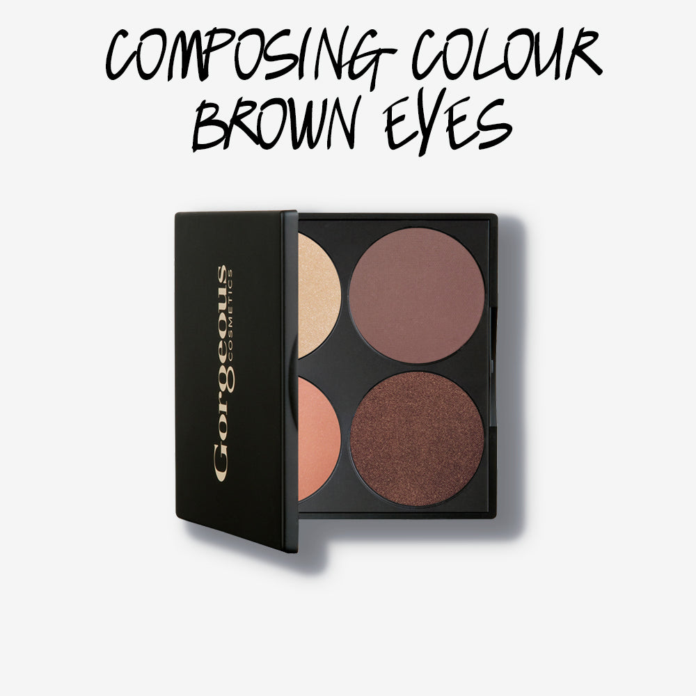 COMPOSING COLOUR BROWN EYES PALETTE