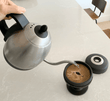 Our eco friendly coffee press just needs hot water and coffee grounds. Portable coffee press | Palmpress