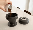 Single cup coffee press makes smooth, delicious coffee every time