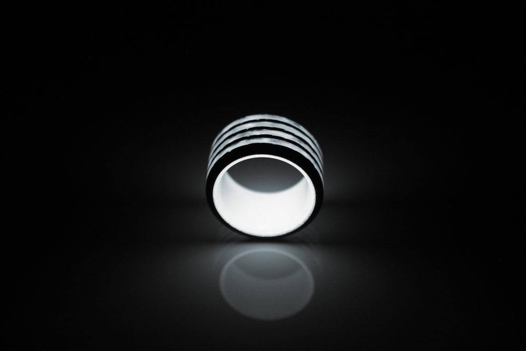 White Saturn Carbon Fiber Ring
