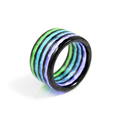 The Aurora Borealis Carbon Fiber Ring