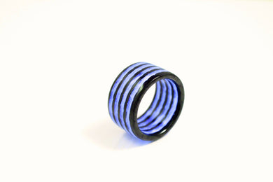 Purple Aurora Carbon Fiber Ring