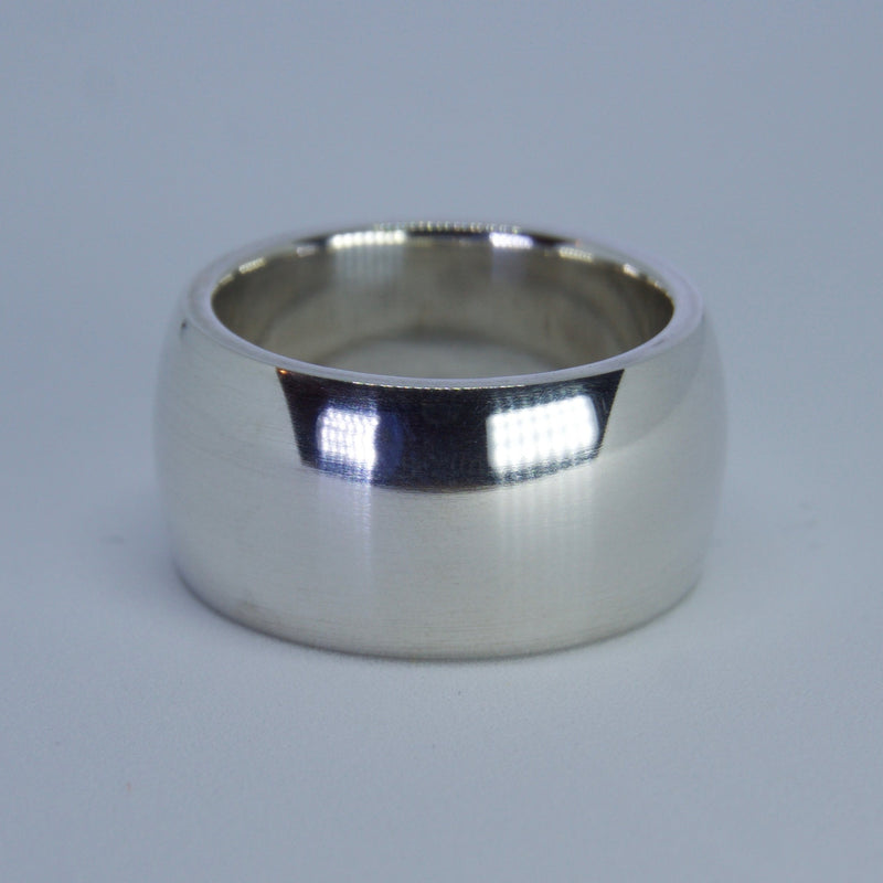 Barrel Silver Thicc Ring