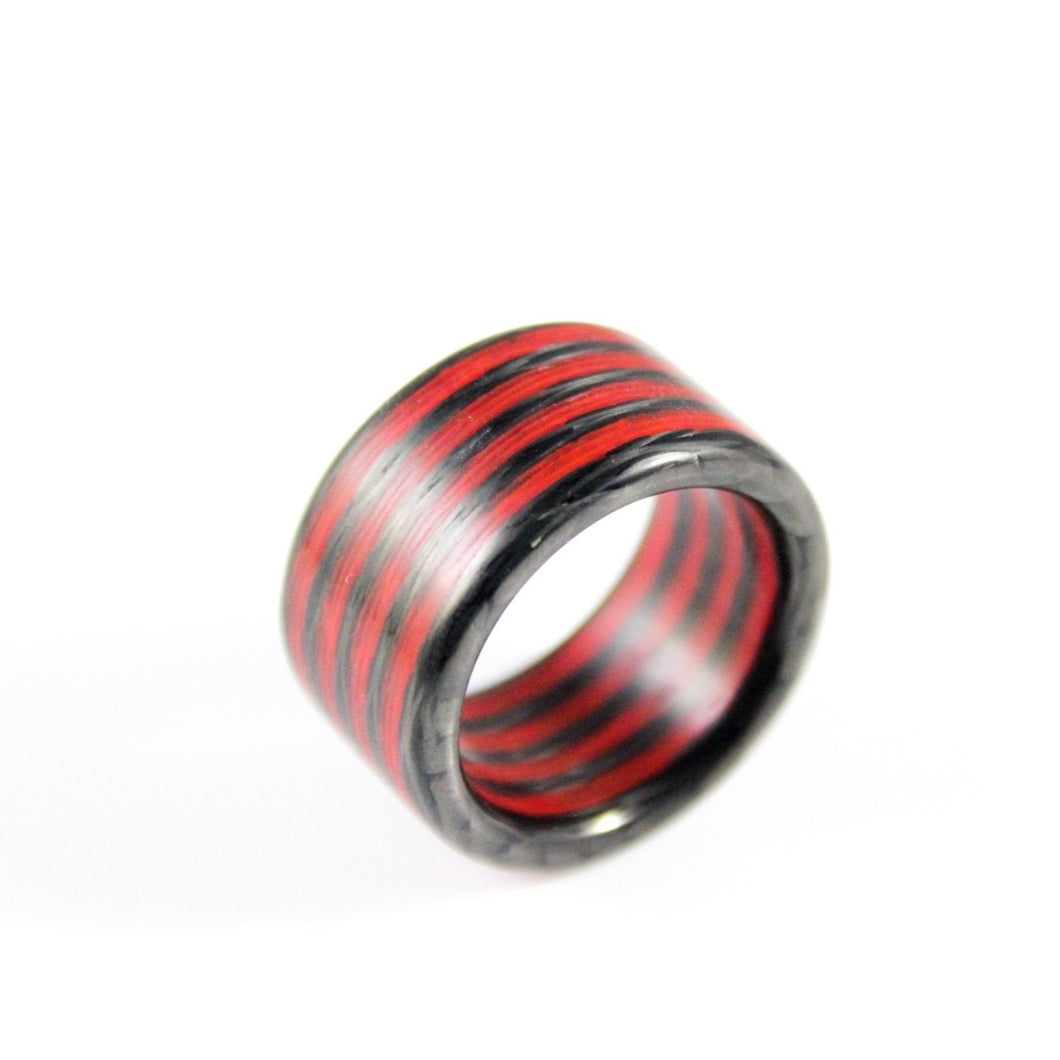 Fire Aurora Carbon Fiber Ring