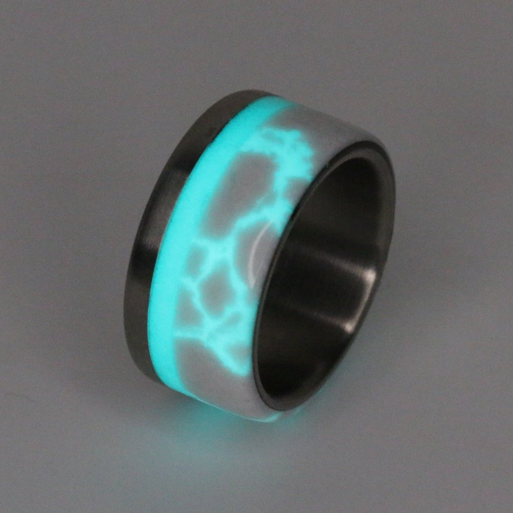 Custom Titanium Lightning Glow Limited Edition Band