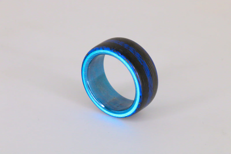 Blue Anodized Tri-Hybrid Carbon Lume Core