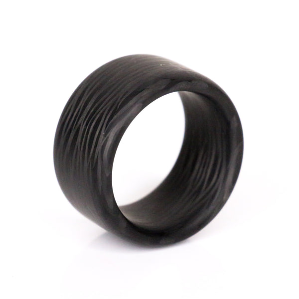 Premium Top Cut Carbon Fiber Ring