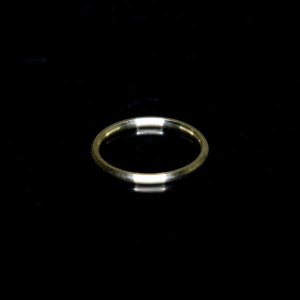 Solid Gold Slim Ring