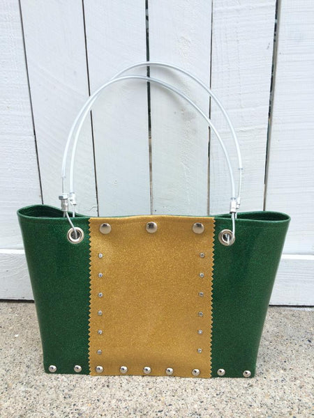 Green & Gold Small Purse (Includes Bison Charm)
